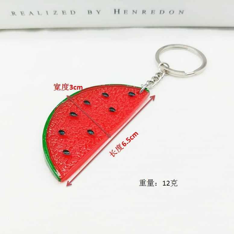 1 pcs Melancia das actividades de Promoção de chaveiro carro fivela chave pingente de resina criativo artesanato dom acessórios fruto bonito keychain