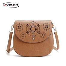 2019 Women Messenger Bag Hollow Out bolsa feminina bolso mujer Leather Shoulder Bag Small Crossbody Bags for Women Flap Bags westal casual crossbody bag for woman small shoulder bag women messenger bags genuine leather women bag female flap bolsa