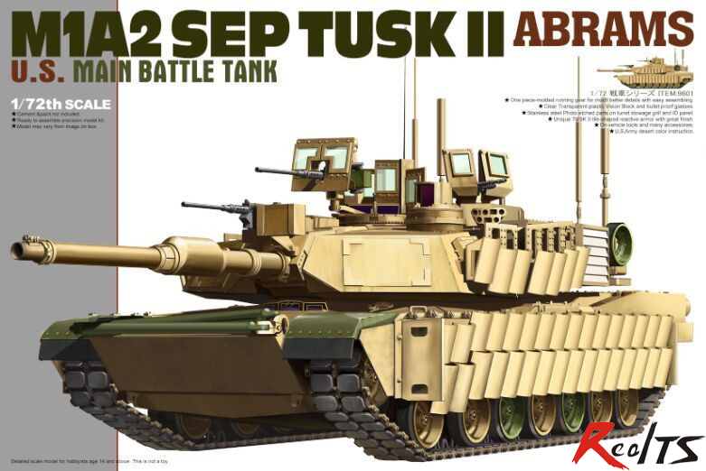 Tiger Model 9601 1/72 US M1A2 SEP TUSK II Abrams