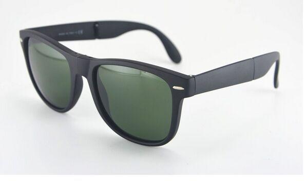 Черный Складной способ Солнцезащитные Очки, популярные солнцезащитные очки, бесплатная доставка