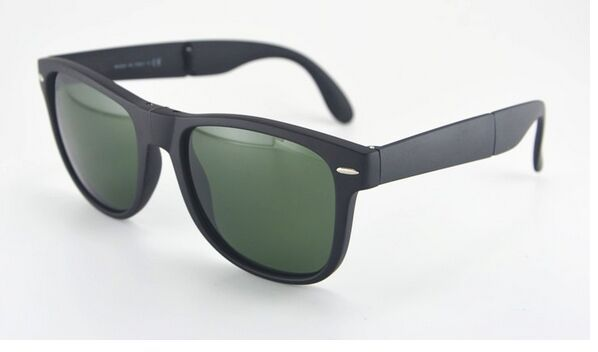 Black Folding  way Sunglasses, popular polarized sunglasses,free shipping