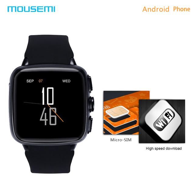 Mousemi z01 smart watch função relógios inteligentes android com um cartão sim e do telefone rastreador gps à prova d' água do bluetooth smartwatch