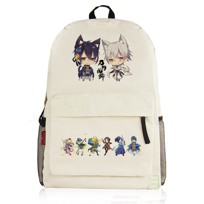 2018 Game Touken Ranbu Online Cosplay Printing Backpack Imanotsurugi Kawaii Women Backpack Canvas School Bags Mochila Feminina children school bag minecraft cartoon backpack pupils printing school bags hot game backpacks for boys and girls mochila escolar
