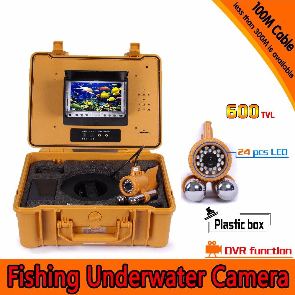 Caméra Endoscope DVR AV sous-marine 600TVL 100 M avec écran LCD de 7 pouces