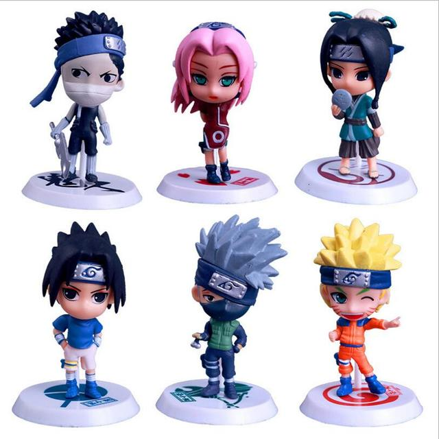6 pcs set cool naruto action figures toy doll anime figurine