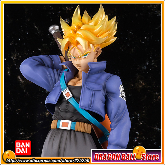 Japan Anime Dragon Ball Z 100% Original BANDAI Tamashii Nations Figuarts Zero EX Completely Figure - Super Saiyan Trunks japan anime dragon ball z 100% original bandai tamashii nations figuarts zero ex completely figure super saiyan trunks