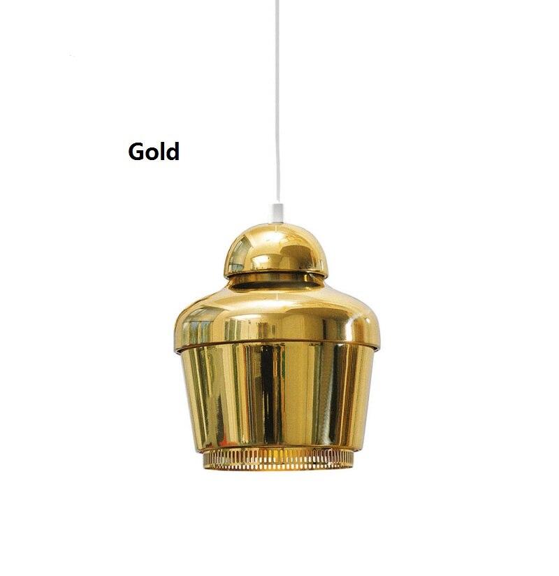 Artek moderna Lampade A Sospensione Per Sala Da Pranzo Cucina Metallo Mini oro Infissi Lampada E27 110 V 220 V Illuminazione Domestica Lamparas 2016 nuovo