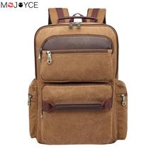 Large Capacity Travel Casual Backpack Canvas Shoulders Bag