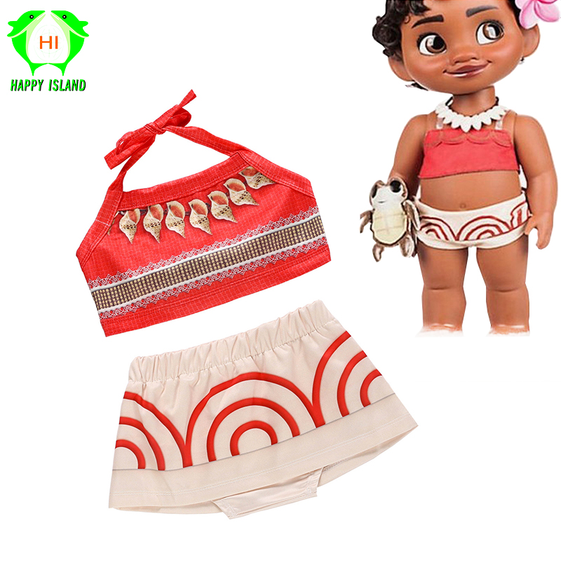 2019 Newest Moana Cosplay Costume Kids Princess Costume Anime Movie Moana Costume Kid Party Dress Girls Skirt For Children's Day
