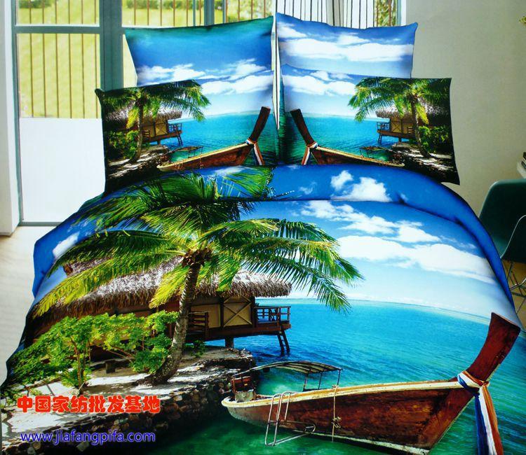 Aliexpress.com : 3d palme Strand bettwsche trster setzt ...