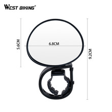 WEST BIKING Bike Rear view Mirror 360 Degree Adjustable Rear View Mirror