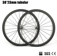 Catazer Superlight Racing Bicycle wheelset Road Bike powerway R36 Straight pull Hub 38mm Depth Profile Tubular Carbon wheels
