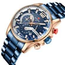 REWARD Military Sport Men Watches Top Brand Luxury Full Steel Wrist Watch Men Luminous Fashion Chronograph Watch Date Male Clock luxury leather gift box pacific angel shark sport watch 24hrs chronograph luminous steel water resistant men watches sh315 319