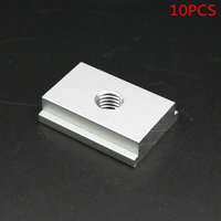 SET Of 10PCS M8 T Slider For T Slot For Various Woodworking Jigs