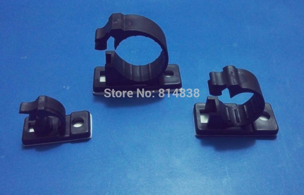 Aliexpress.com : Buy 7.5 mm Dia. Wire Cable Clips Clamps Black ...