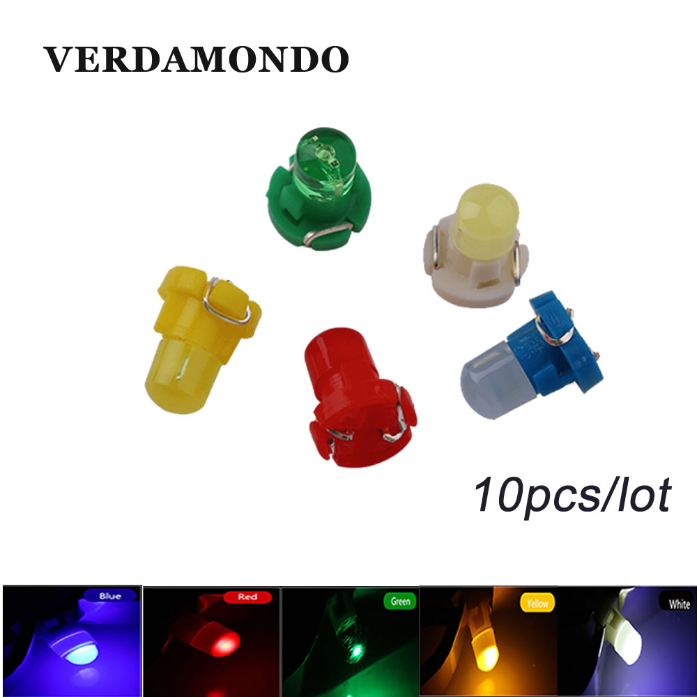 10PCS Interior Light <font><b>T3</b></font> Wedge LED Bulb Auto Car Instrument Light bulbs <font><b>12V</b></font> Automobiles Car-styling Car Led Light 5 Colors image