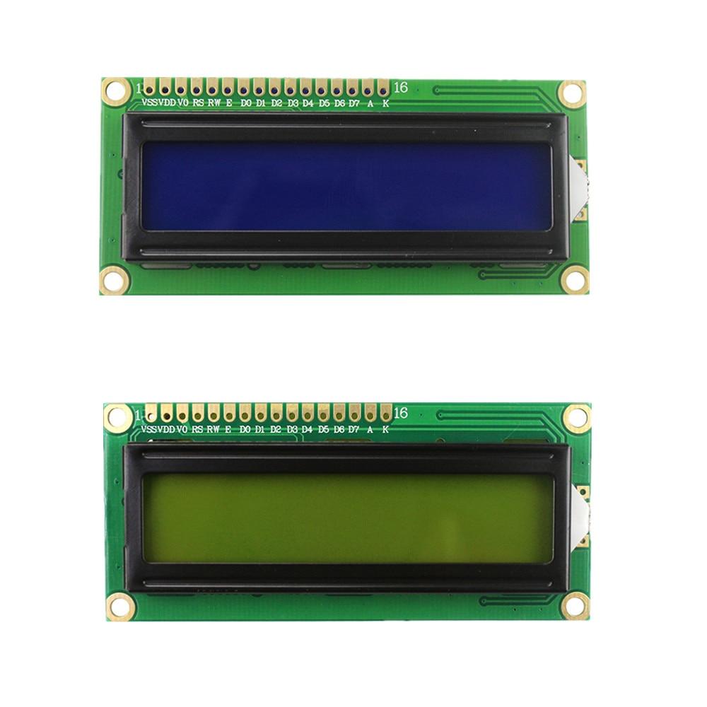 Elektronische Bauelemente Und Systeme Optoelektronische Displays Angemessen Lcd1602 Lcd Monitor 1602 5 V Blauen Bildschirm Und Weiß Code Für Arduino Diy Kit