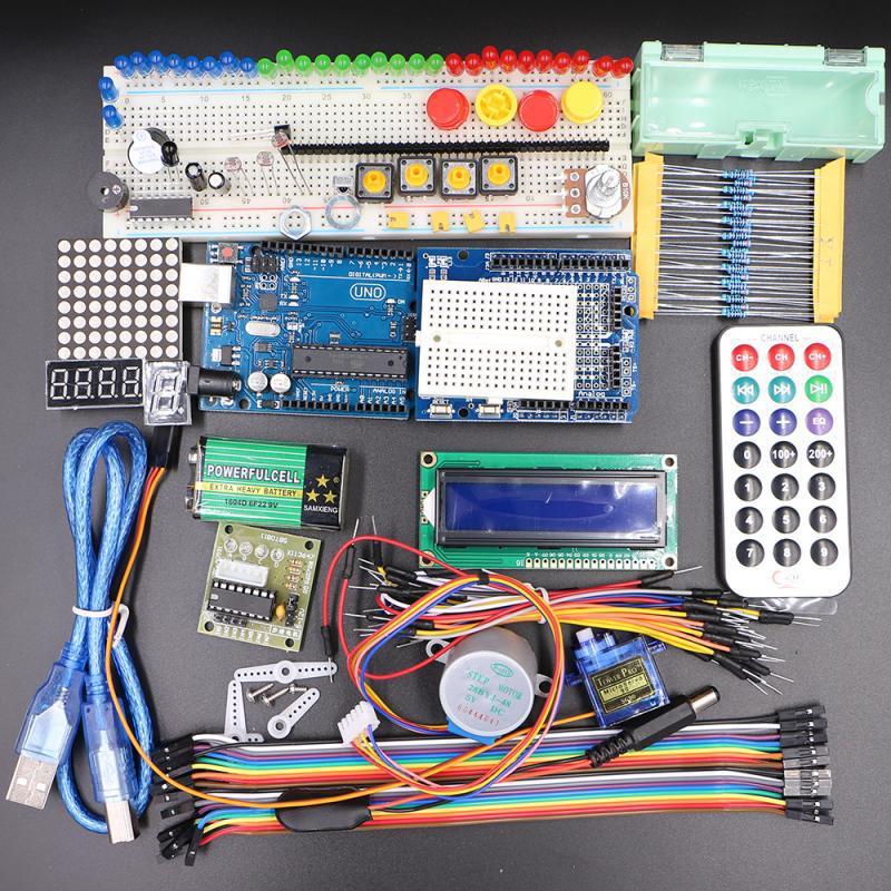 Intelligent Robot Arduino Starter Kit 2016 Update UNO R3 Microcontroller new basic starter learning kit upgrade version for arduino