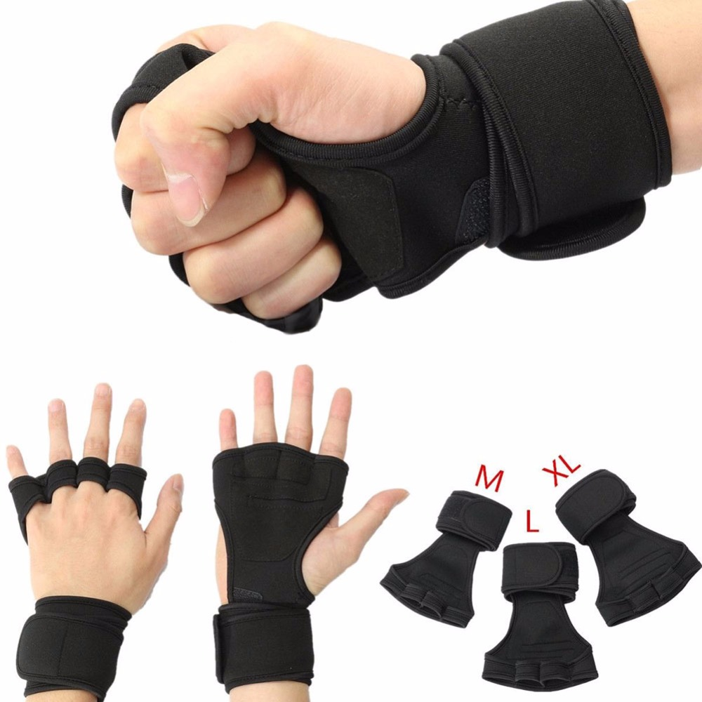 Athletes Health Gloves Wrist Wrap Workout Dumbbell Fitness