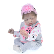 Lifelike Reborn Doll Soft Silicone 22″ 55cm Realistic Sleeping Girl Princess Lovely Baby Dolls For Kid Birthday Gift Toddler Toy