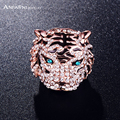 ANFASNI Newest Enamel Tiger Shaped Punk Engagement Rings/Saphire Rings With Czech Crystal Fashion Jewelry Ri-HQ0177