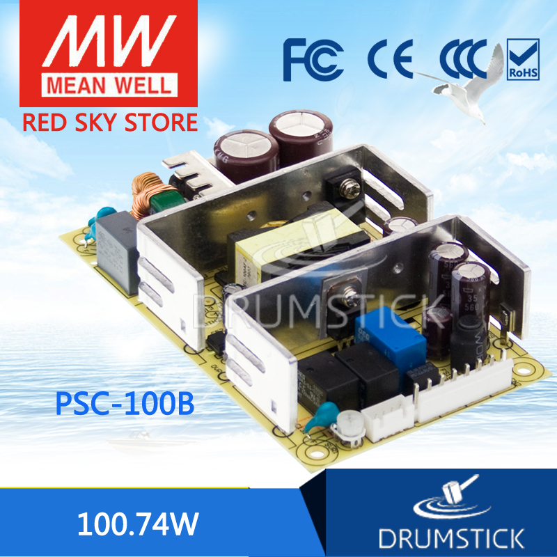 Genuine MEAN WELL PSC-100B 27.6V meanwell PSC-100 100.74W with Battery Charger(UPS Function) PCB type hot sale mean well psc 160a 13 8v meanwell psc 160 160w single output with battery charger ups function pcb type