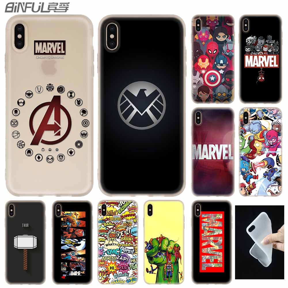 Luxury Marvel Comics <font><b>logo</b></font> Cover <font><b>Case</b></font> <font><b>Silicone</b></font> soft for <font><b>iPhone</b></font> X 11 Pro XS Max XR 6 <font><b>6S</b></font> 7 8 Plus 4 5S SE Phone <font><b>Cases</b></font> Etui image