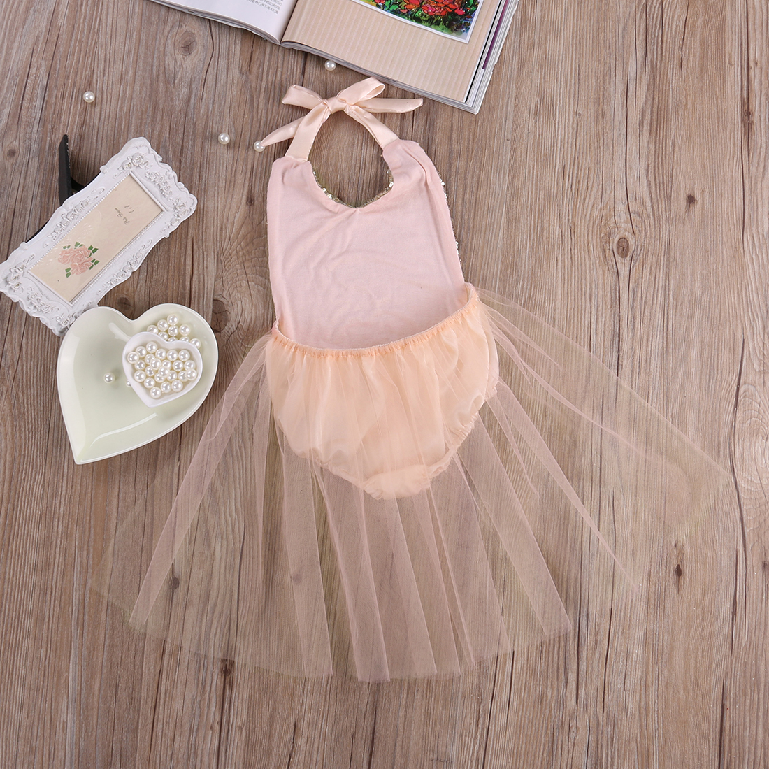 16 New Princess Baby Girls Sequins Romper Summer Sunsuit Outfits Clothes 0-24M Newborn Baby Girl Clothes Set Overalls 5