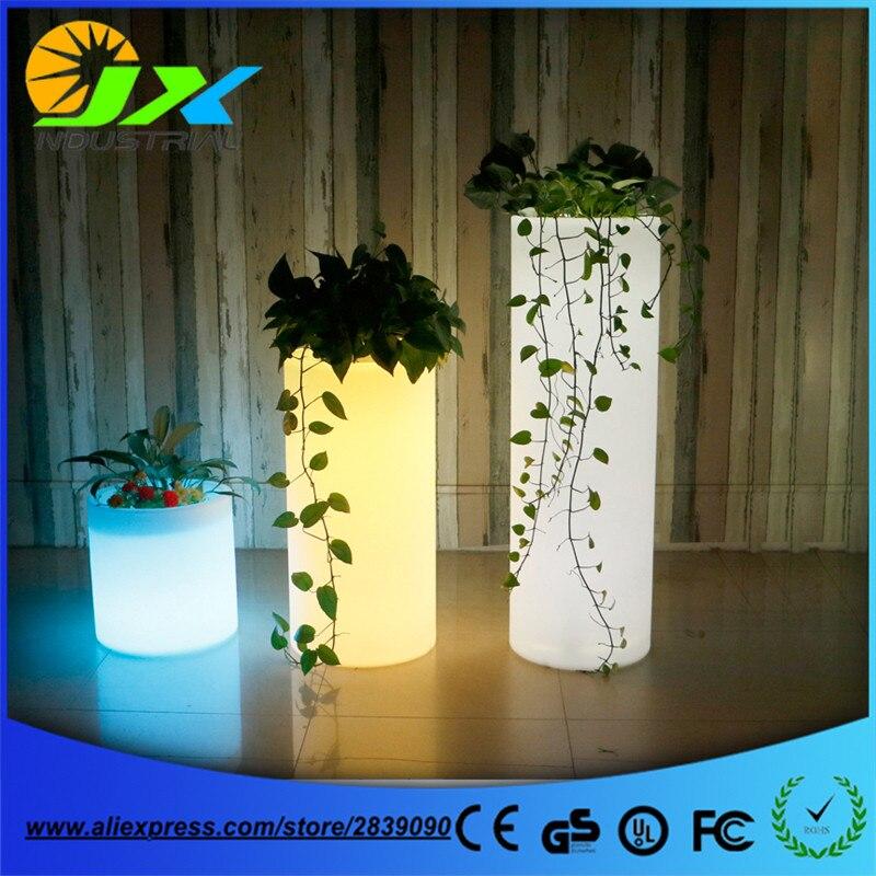 Тип Led Пластиковые цветы из материала pe горшки для украшения сада/дистанционное управление цвета изменения и перезаряжаемые