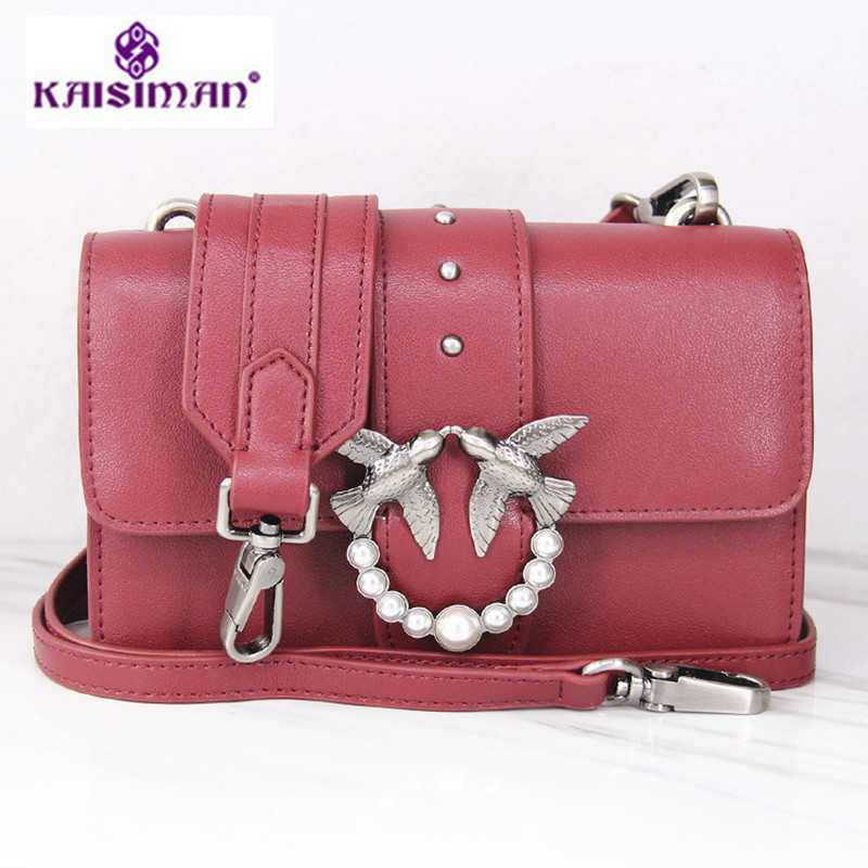 Classics Famous Designer Birds Flap Messenger Bags Lady Genuine Leather  Handbags Luxury Brand Women Clutch Rivet e6a27a74d28e
