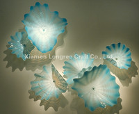 Colorful Home Hotel Decotation Hand Blown Murano Glass Wall Decorative Plates