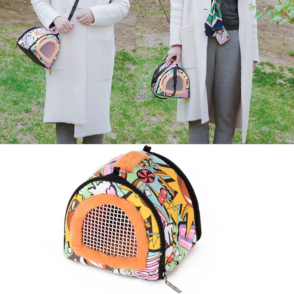 Portable Small Pet Travel Bag Hamster Carrier Breathable Outdoor Hedgehog Bag thumbnail