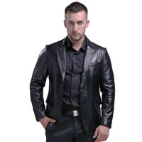 2017 Men's Genuine Leather Jackets Sheepskin Jacket Men Leather Suit Jacket Men Real Leather Coat Genuine Leather Coat Men 803