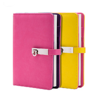 Черный  зеленый  желтый  апельсиновый  розовый  твердый переплет  искусственная кожа  органайзер для ноутбука  дневники A6  6-ring  канцелярские ...