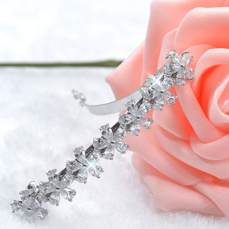 Very Beautiful Made Luxury AAA Level CZ Trendy Hair Clips for Women Nice Flower Bride Marriage Accessories F00005