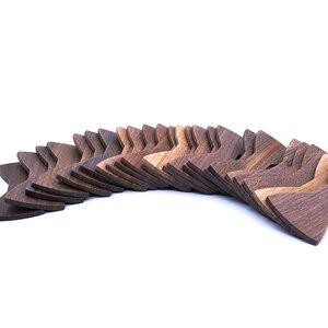 Image 5 - شبه تصنيع 1 مجموعة 50 قطعة الربط الجوز الأسود رابطة خشبية الكبار حجم 12 سنتيمتر * 5.5 سنتيمتر مخصص شعار النقش بالليزر OEM