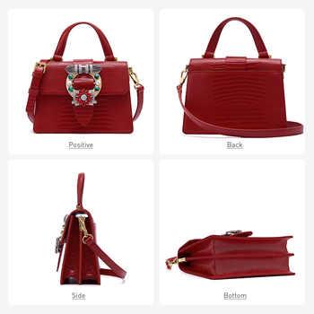 LAFESTIN Luxury Handbag Women bags 2019 New Diamond Handbag Fashion Shoulder Bag Messenger Bag Bolsa Feminina Lizard Texture
