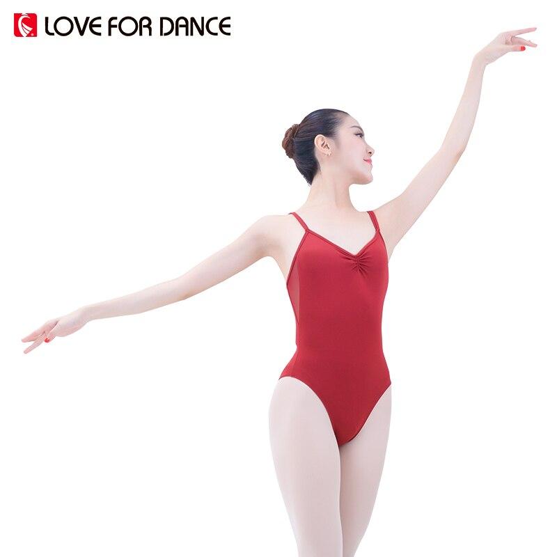 fba5edba3 LOVE FOR DANCE Women Ballet Leotard Sexy Sling Gymnastics Backless ...