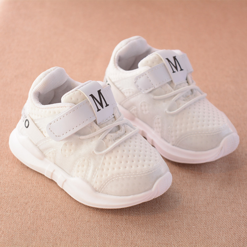 2018 autumn new fashion white mesh breathable soft bottom gray casual sports students running girl branded kids shoes jordan
