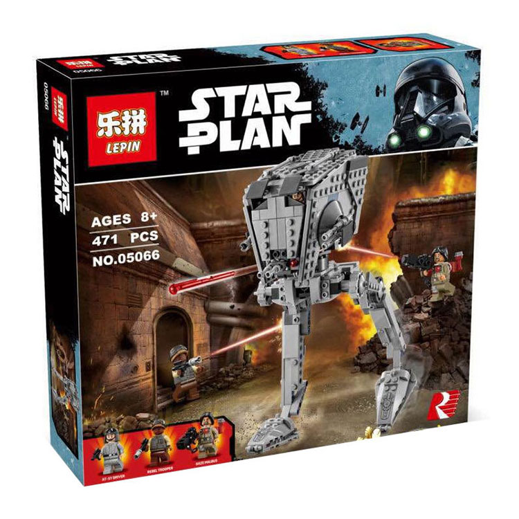 ФОТО New LEPIN 05066 Star Wars series The AT-ST Walker Model Building Blocks set classic Compatible 75153 Toys for children