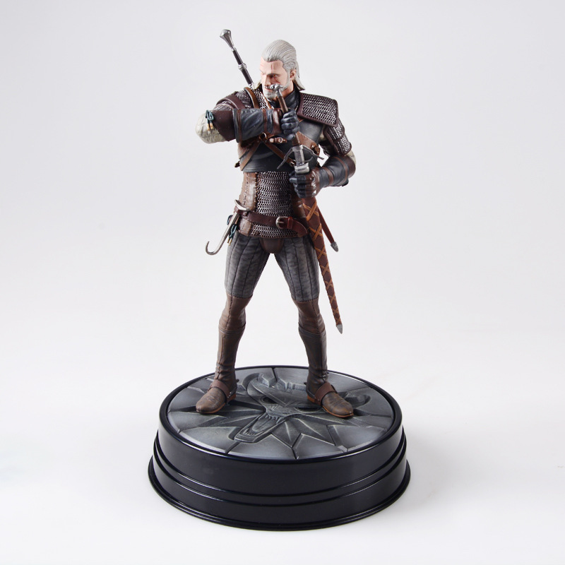 The Witcher 3-chasse sauvage: figurine Geralt cheval noir Deluxe The Witcher PVC jeu figurine Collection jouet