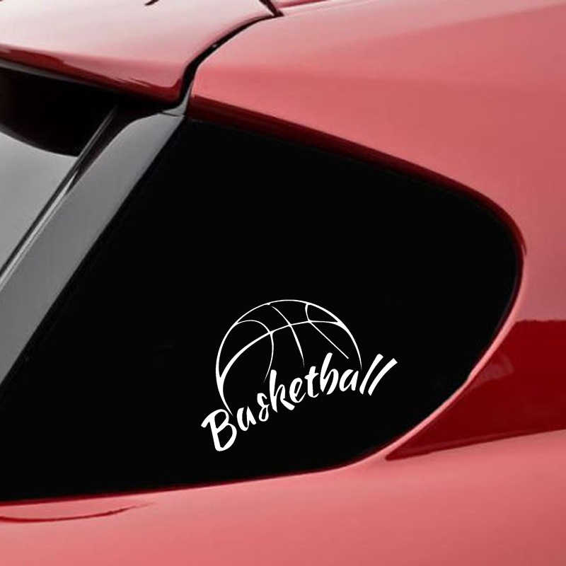 QYPF 14cm*10.8cm Car Styling Play Basketball Fashion Vinyl Car Stickers Acessories Black Silver S2-0648