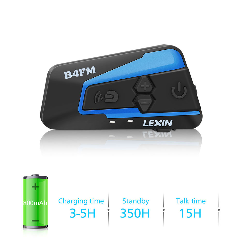 Lexin 1 PC casque interphone étanche sans fil casque bluetooth casque moto pour 4 coureurs parlant FM Radio intercomunicador