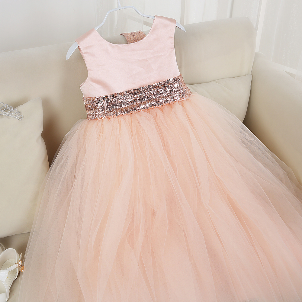 ФОТО 6 color girl party dresses with sequins belt vintage girls dress clothing pink baby clothes wedding party tutu dresses  pt288