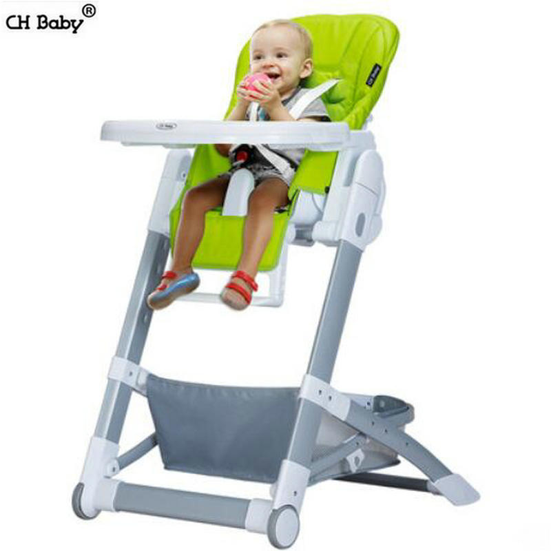 CH baby folding baby highchair, multifunctional portable baby feed chair, seat height adjustable kids chair with PU seat height adjustable elderly seat commode chair portable mobile toilet chairs