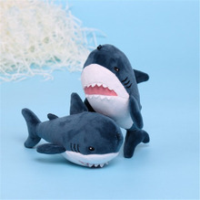 15cm Shark Plush Key Pendant Doll Cute Soft Stuffed Chain Toy 12pcs/lot