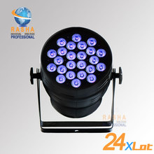24X LOT Rasha Hex Lion Rasha 24pcs*18W 6in1 RGBAW UV Alumnium LED Par Light UV LED Par Can Stage LED Projector For Stage Party