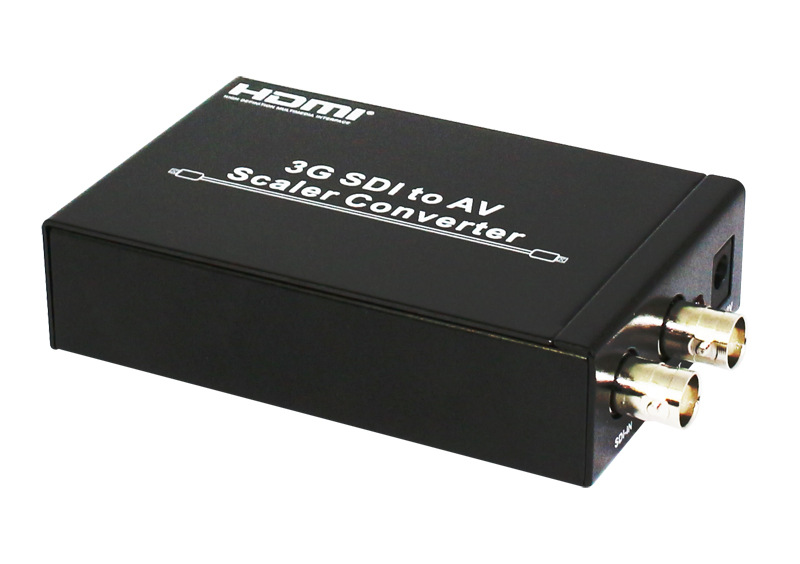 Full HD 1080p 3G SDI to AV Scaler Converter 3G/HD/SD-SDI to R/L RCA CVBS Adapter Converter for CRT HDTV Camera SDI6x10