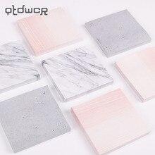 1 шт. креативные мраморные цветные самоклеющиеся блокноты для заметок в каменном стиле, Стикеры для заметок, школьные офисные канцелярские принадлежности