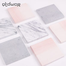 1PC Creative Marble Color Self Adhesive Memo Pad Stone Style Sticky Notes Bookmark School Office Stationery Supply(China)